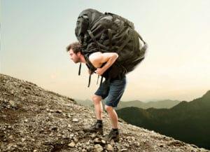 Wenn der Rucksack zu schwer wird!
