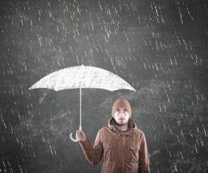 Arbeiten bei Regenwetter